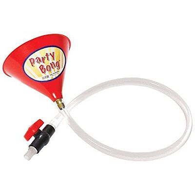 Beer Bong Beer Funnel with Valve and 3.3 ft Hose Chug Beers Fast PARTY BONG FUN