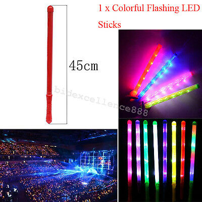 Colorful Flashing LED Sticks Rally Rave Cheer Tube Wand For Party Wedding Club