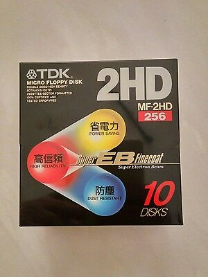 "TDK 3.5"" 1.44MB 2HD 10-Pack Floppy Diskettes (New,sealed)"