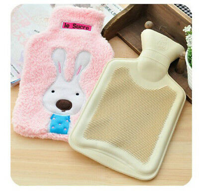2L Hello Kitty Hot Water Bottle Warmer Soft Natural Rubber Bag Knitted Cover