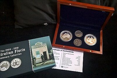 2005 To 2008 One Dollar  Silver Proof Set -*the 1909 To 1910 Florin Centenary*