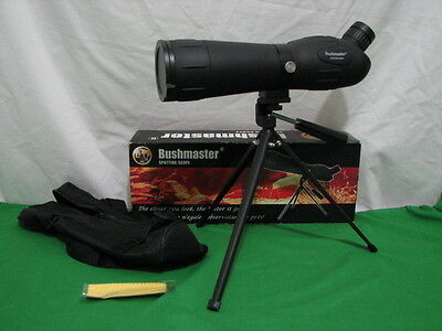 BUSHMASTER SPOTTING SCOPE 20-60X60 LIKE NEW IN BOX w CASE AND TRIPOD 206060