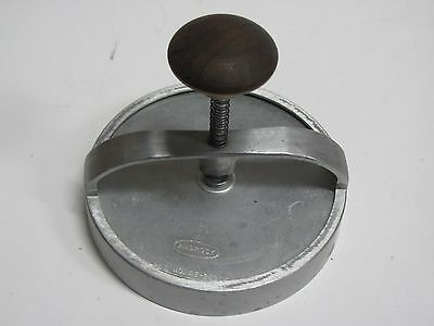 Vintage Androck Hamburger Press /Cookie/Biscuit Cutter Wood Handle Pat. RE-24935