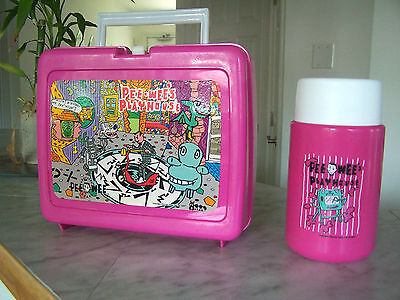 PEE WEE THERMOS Plastic Pink Lunch Box With 10 oz Bottle
