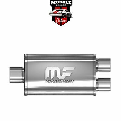 "14221 - Single 3""/ 2.5"" Twin 8""x5""x14"" Body - Stainless Steel Magnaflow Muffler"
