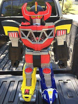 """28"""" Tall Fisher-Price Imaginext Mighty Morphin Power Rangers Megazord ONLY"""