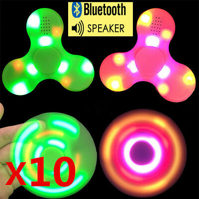 10pcs/lot Bluetooth Speaker Music LED Fidget Spinner EDC Fidget Gyro Wholesale