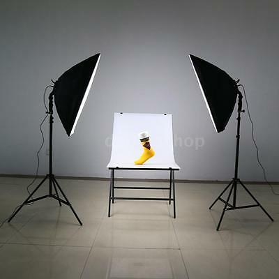 LED Photography Studio Lighting Kit with LED Lamp+ Softbox+ Light Stand DS O1C0
