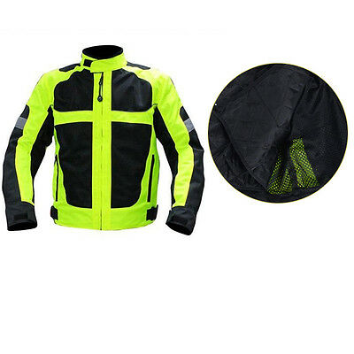 Fantastic Motorcycle Clothing Off-road Jacket Fluorescent Green Mesh FS945 M-XXL