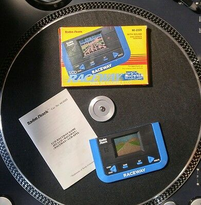 Radio Shack - Raceway - Portable LCD Game - Tandy - Complete - NM - Works!