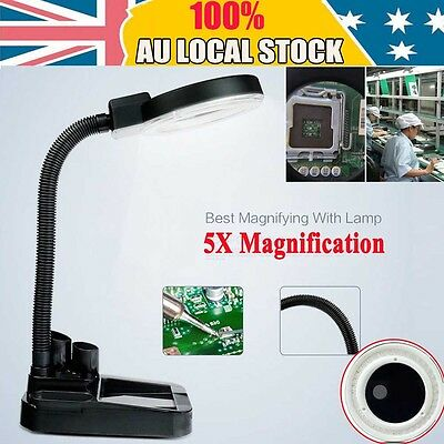 40LED 5X Magnifier Desk Light Precision Read Nail Art Tattoo Magnifying Lamp -SP