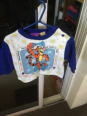 Boys Long Sleeved Pyjama Top Only Size 0 Disney Brand Tigger Picture New