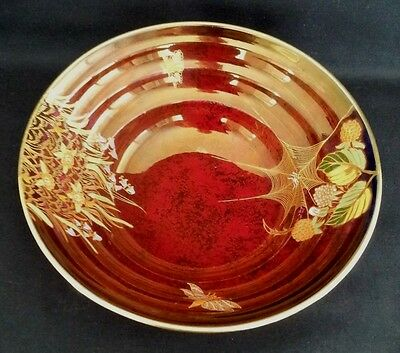"Carlton Ware ""vintage"" Handpainted Royal Rouge Dish"