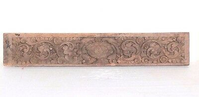 1850 Carved Vintage Indian Antique Rare Wooden Wall Panel Home Decor R-37