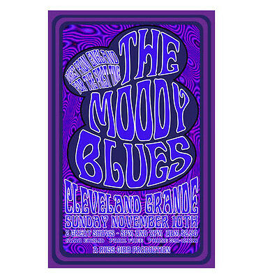 Moody Blues 1968 Cleveland Concert Poster