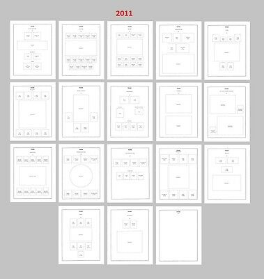 Canada 2011 stamp album pages 18 pages, FREE shipping