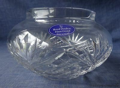 Royal Doulton Cut Crystal Vase, Stratford, 9.5 h 15 Diameter, TOP with Sticker
