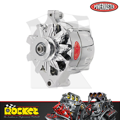 Powermaster 140A 1-Wire Alternator CHROME Fits Ford - PM8-37141