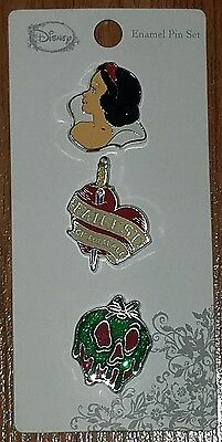 Disney Snow White 3 Pin Set Loungefly New on Card