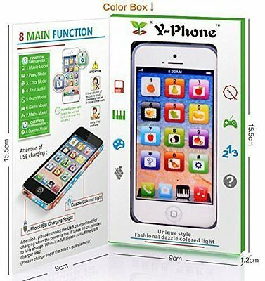 Toy YPhone Childrens Kids iPhone Mobile Y-Phone Educational English Learning US