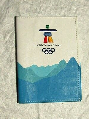 2010 Vancouver Olympic PASSPORT HOLDER/ FOLD OVER WALLET -LEATHER inukshuk  EUC