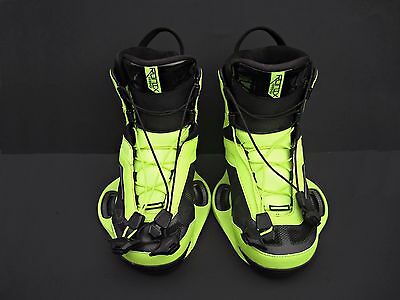 Ronix Parks Wakeboard Boots Size 10 Neon Yellow Color EUC