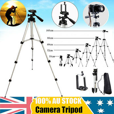 Adjustable Camera Tripod Mount Stand Holder for iPhone Samsung Mobile Phone DN