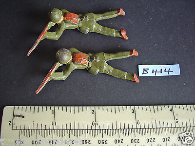 1950s Crescent US Infantry Lying Firing x 2 Very Fine Condition (#B414)