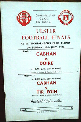 Cavan V Derry 18/7/1976 Gaa Ulster Senior Final @ Clones