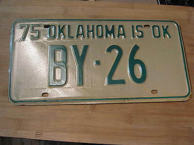 1975 Oklahoma License Plate Expired By 26