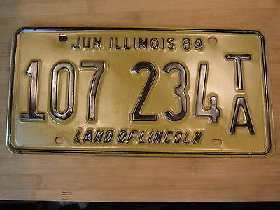1984 Illinois License Plate Expired 107 234