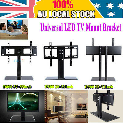 PRO Universal Desktop Mount Stand Bracket Monitor LCD LED Plasma TV Home Office