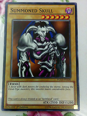 Yugioh Card - Summoned Skull Common YGLD-ENA06 Mint