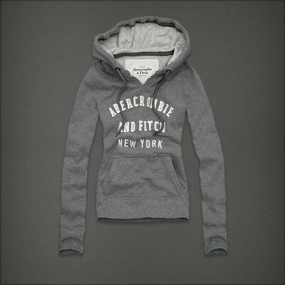 Sweat capuche gris Abercrombie & Fitch Taille L Neuf