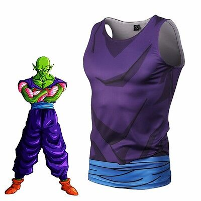 Anime Dragon Ball Z Piccolo Mens T-shirt Tank Top Sports Gym Vest Jersey Cosplay