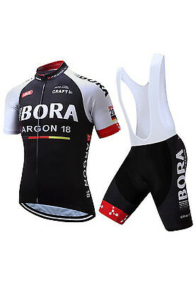 Trikot Set Team Bora Kurz Rennrad Cyclo MTB XL