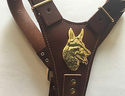 Brown German Shepherd/Husky Leather Harness - BRAND NEW TOP QUALITY LEATHER