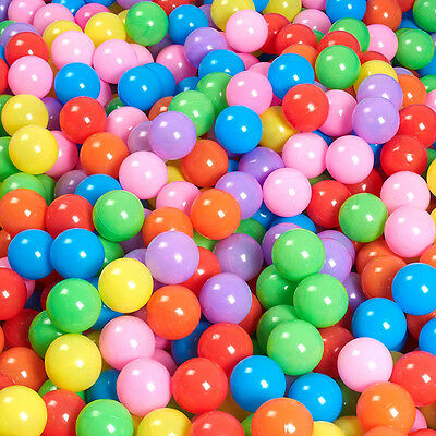 100* Multi-Color Kid Soft Play Balls Paly Toys for Swim Pit Ball Pool Ball Gift