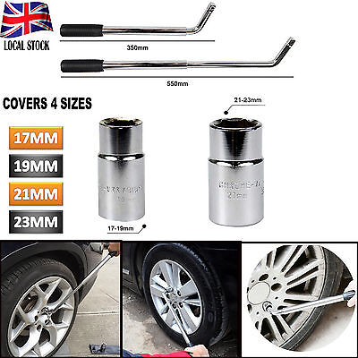 Extendable Wheel Brace Socket Telescopic Wrench Tyre 17 19 21 & 23mm Van Car UK
