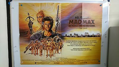 Mad Max Beyond Thunderdome Original UK Quad Movie Film Poster 1985