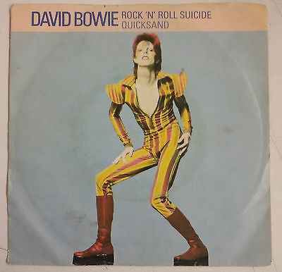"David Bowie Rock N' Roll Suicide Single 7"" UK 1974"