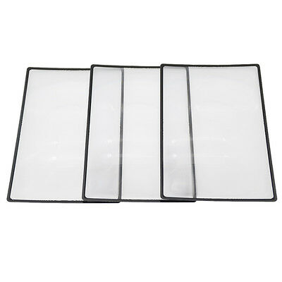 3 Pcs 18x12cm Flat PVC Magnifier Sheet Book Page Magnifying Reading Vision Care