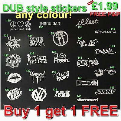 DUB Stance style car Stickers Race Modified Window Bumper Vinyl Decal VW