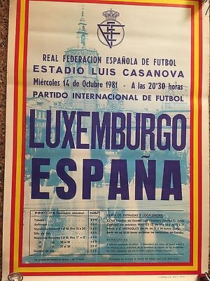 1976 Friendly. Spain, 3 - Luxembourg, 0. official cartel