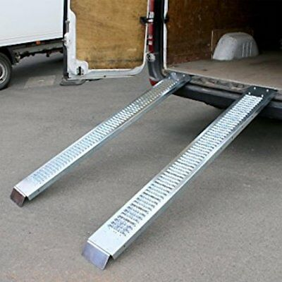 2 Steel Loading Ramps 450 kg Car Van Boats 1.9m Garage Mobility Scooter Non Slip
