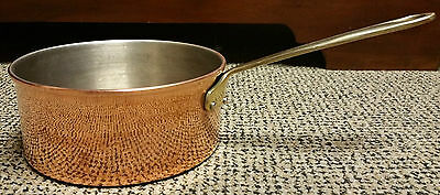 """VINTAGE ANTIQUE  """"COPPER & BRASS  FRENCH COOKING POT"""" 17cm REDUCED TO CLEAR!!!"""