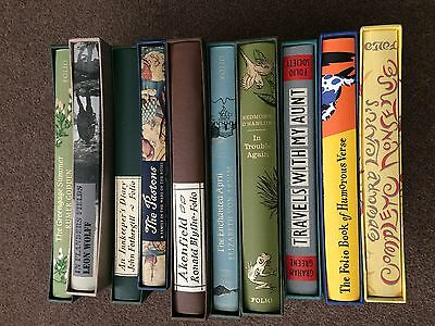 Job Lot 10 Assorted Folio Society Books, New & Excellent Read Books