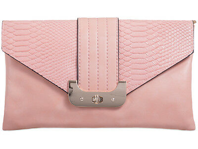 Faux Leather Snake Embossed Fashion Style Ladies Brand Evening Clutch Bags 90366
