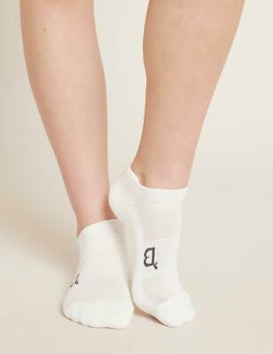Boody Organic Bamboo Womens Ladies Sports Ankle Socks White Size 3-9