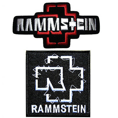2 Rammstein Metal Punk Rock Music Iron On Shirt Cap Patch